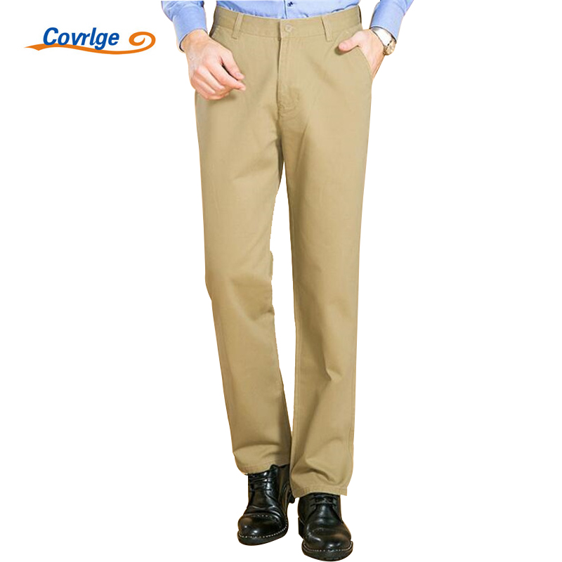 Covrlge Mens Pants 2018 Spring New Trousers Men 100% Cotton Solid Casual Pants Male Business Work Clothes Coveralls MKX021