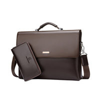 Europe and the United States fine men 's portable briefcase business travel cross men' s high quality PVC computer bag