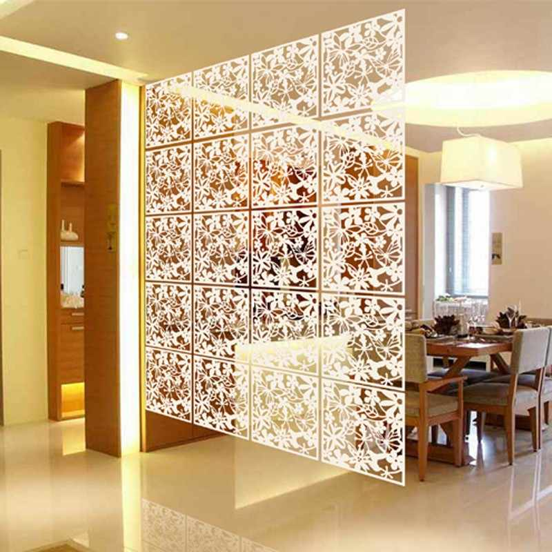 Hanging Wall Panels Room Divider Fashion Hollow Flower Window Folding Screen Background Foldable Shield 40cm