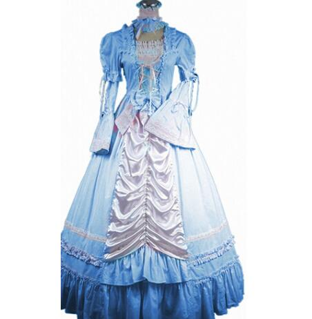 (LD017) Costume sans manches cloche du sud robe gothique Lolita fête victorienne Costumes d'halloween pour femmes adulte personnalisé