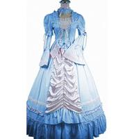 (LD017) Sleeveless Southern Bell Costume Gothic Lolita Dress Victorian Party Halloween Costumes for Women Adult Customized