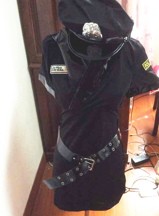 Police women Costume Cosplay Halloween hot selling praty show women Fantasia Fancy DressWomen Black Sexy Police