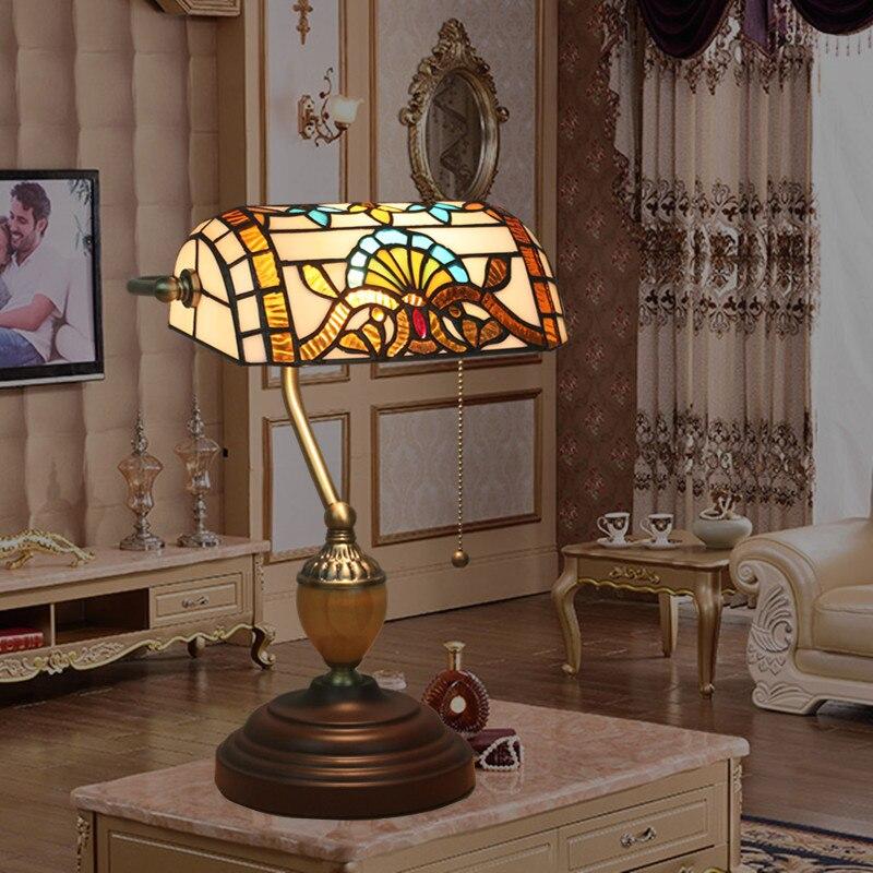 estilo barroco europeo lmpara de noche retro manual de trabajo lmpara de mesa de cristal