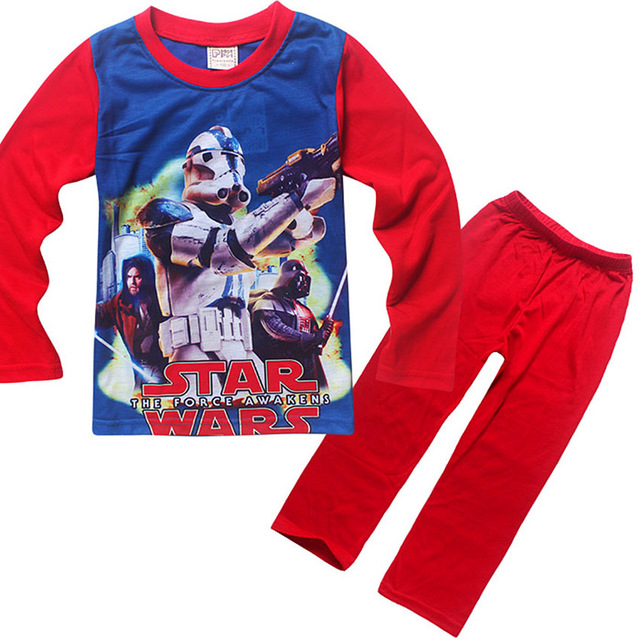 2017 new boy Clothing Sets Kids Pajamas Baby Cartoon Pijamas Boy STAR WARS Pyjamas chiidren Sleepwear