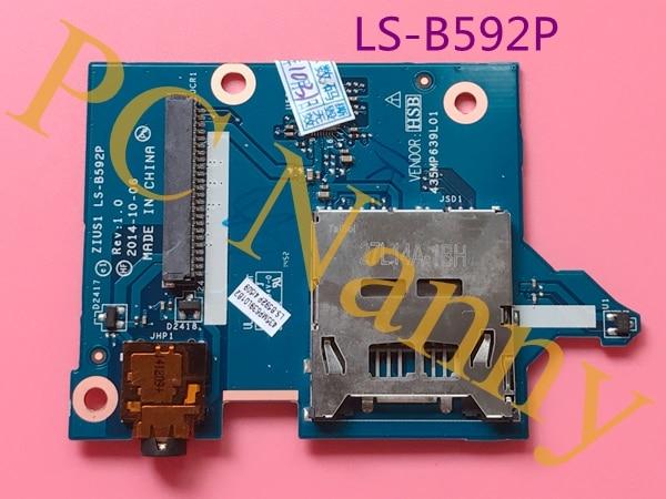 FOR LENOVO Yogo S5 SD CARD READER BOARD AUDIO BOARD ZIUS1 LS-B592P