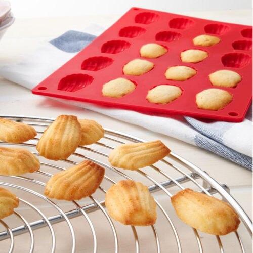 20-Cavity Mini Fancy Bundt Madeleine Shell Cake Pan Silikonová forma na pečení