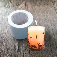 새로운 스타 사슴 실리콘 촛불 비누 금형 크리스마스 엘크 캔디