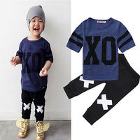 2016 Fashion Newborn Toddler Infant Kids Baby Boy Clothes T Shirt Tops Pants Cute Babys Outfit