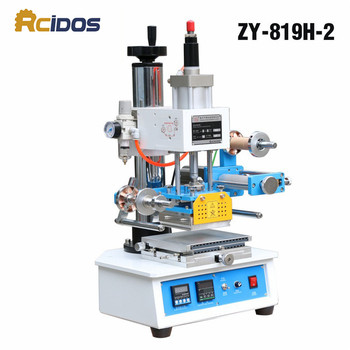 ZY-819H-2 Auto Industrial Hot foil Stamping Machine,RCIDOS wood marks/name card Branding machine,leather embossor 220V