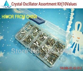 10sets Crystal Oscillator Assorted Kit Assortment Set, 32.768KHz ~ 48MHz 10 Values Each 20pcs With Box total 200pcs