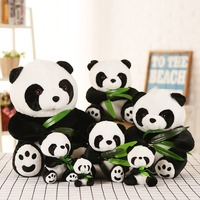 40/50cm Animal plush toy Lucky Panda with bamboo doll Kawaii Sleeping Back Cushion cartoon gifts Accompany Dolls stuffed toys 30