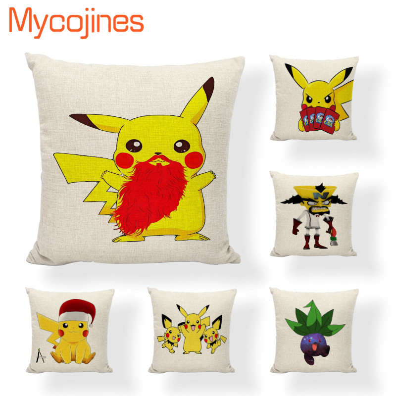 Superb Us 2 96 19 Off Hot Sale Kawaii Pokemon Cushion Covers Christmas Chinchilla Love Home Decorative Living Room Sofa Seat Square Wedding Pillowcase In Caraccident5 Cool Chair Designs And Ideas Caraccident5Info