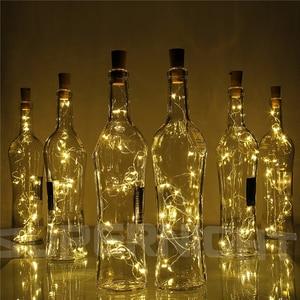 Image 1 - 2M 20 LED Copper Wire String Light with Bottle Stopper for Glass Craft Bottle Wedding Decoration Christmas string lights