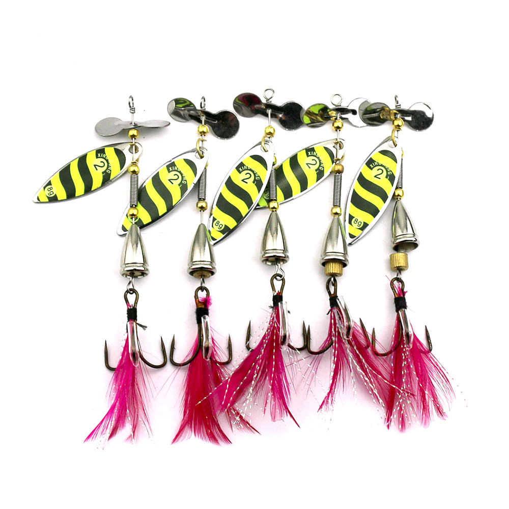 Fulljion 1 Pza Spinner Pesca señuelo de trucha cuchara Wobbers CrankBait carpa Pesca Jig Metal Pesca Isca Artificial cebos duros