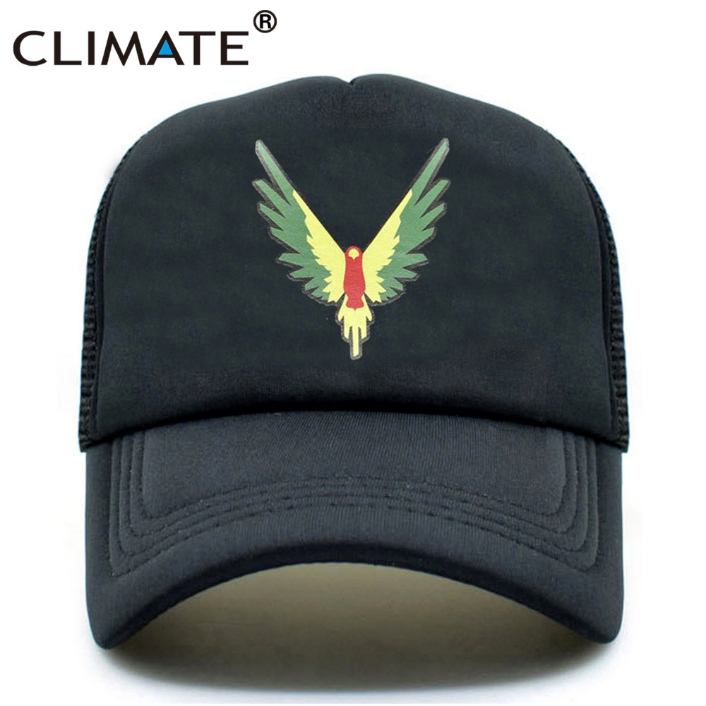 CLIMATE Men Women Summer Trucker Caps Logan Paul Logang Fans Black Cool Cap Cool Maverick Bird Mesh Black Caps Hat For Men Women climate men summer black mesh caps star wars bounty hunter fans cool summer baseball cap black net trucker caps hat for men