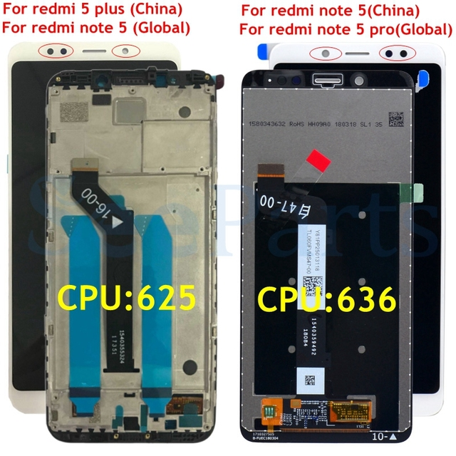 "5.99"" IPS Display for XIAOMI Redmi 5 Plus LCD Replace For Redmi Note 5 / Note 5 Pro lcd Display Touch Screen Frame Freeshipping"