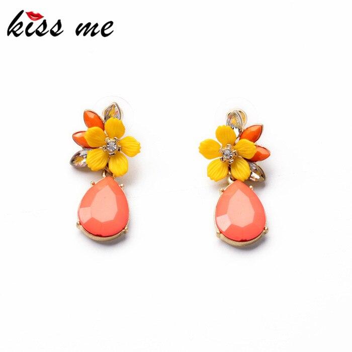 Buy Cheap Shijie Jewelry 2014 Graceful Pink Water Drop Yellow Resin Flower  Earrings for Women Fashion Drop Earrings Accessories Price 4617e438d05c