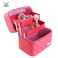 Women Cosmetic Box Designer High Quality Portable Cosmetic Bag Large Capacity PU Cosmetic Bag Women Makeup