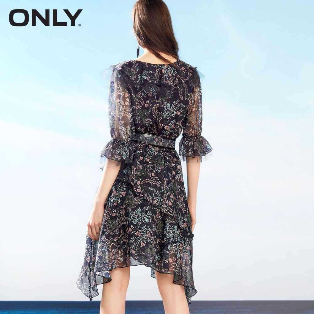 Только осеннее шифоновое платье с расклешенными рукавами для женщин | 118207633