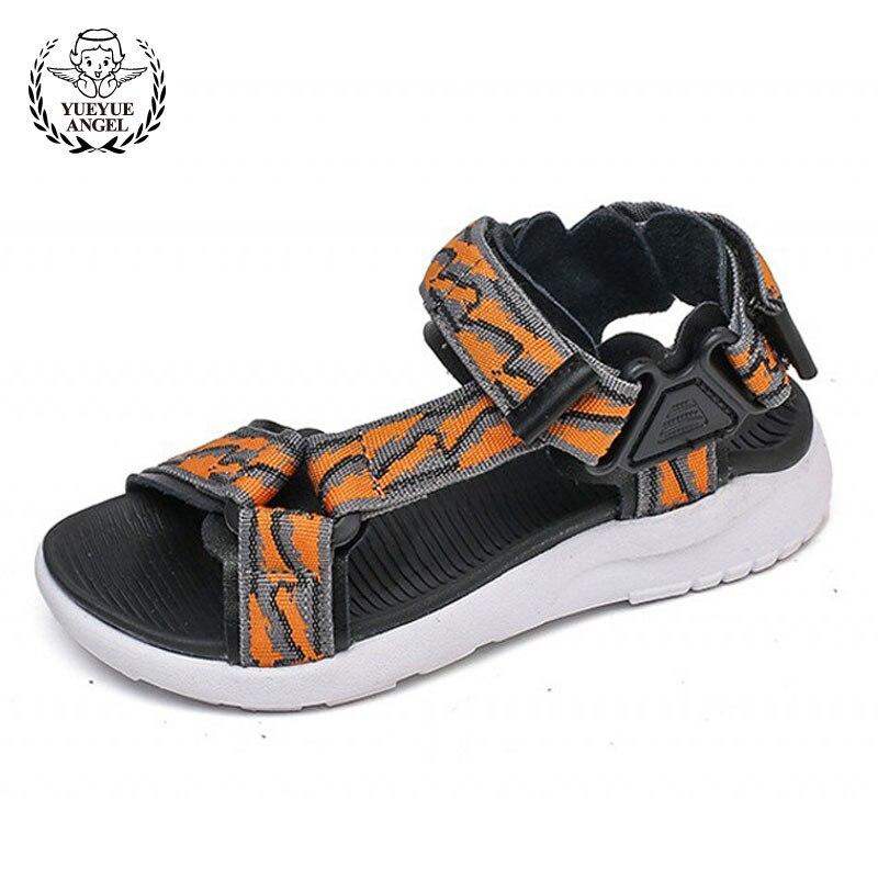 New Summer Childrens Sneakers Thick Platform Kids School Shoes British Baby Sandals 2018 Boy Sandals Hook Loop Jongens Sandalen