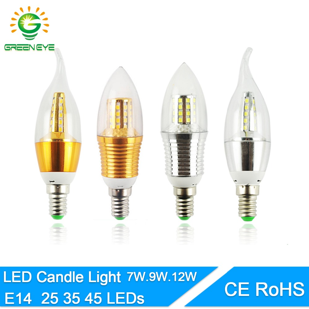 Led Bulb E14 Aluminum 3W 6W 9W 12W Led Lamp AC 220V LED Candle Bulb Cool Warm White Lampada Bombillas Lumiere Lampara Led Light