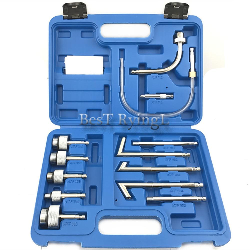 LL 13Pcs Oil Refill Filling Adaptor Set CVT Transmission Service Adapter ATF Adapters Transmission Oil Refilling Tool