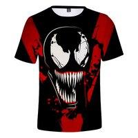Newest Marvel Venom T shirt 3D Spider Man Tom Hard Printed Shirt Men Casual O Neck Short Sleeve Casual T Shirt Plus size XS 4XL