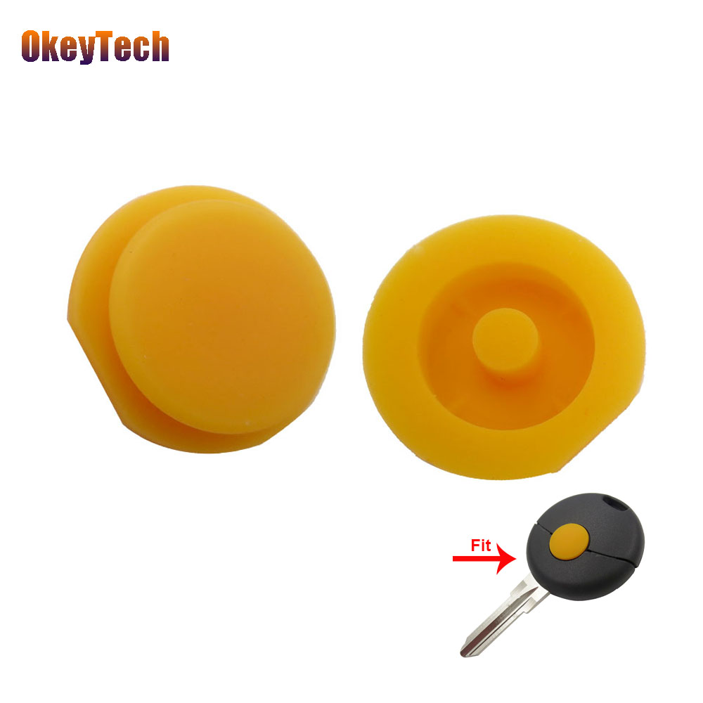 OkeyTech 1Pcs/lot For Benz Replacement Car Key Button Pad Smart Remote Key Shell Rubber Key Pad For Benz Smart Fortwo 1918-2012OkeyTech 1Pcs/lot For Benz Replacement Car Key Button Pad Smart Remote Key Shell Rubber Key Pad For Benz Smart Fortwo 1918-2012