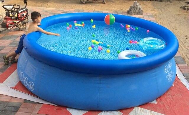 Vasca Da Bagno Gonfiabile Per Adulti : Kingtoy casa o in giardino grande piscina di acqua gonfiabile grande