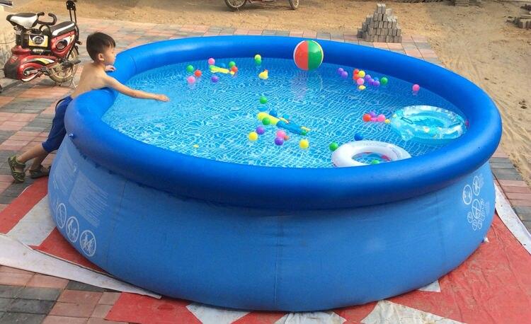 Kingtoy maison ou jardin grande piscine d'eau grande piscine gonflable pour adultes baignoire avec pompe réparation taille 305x76 cm jouet