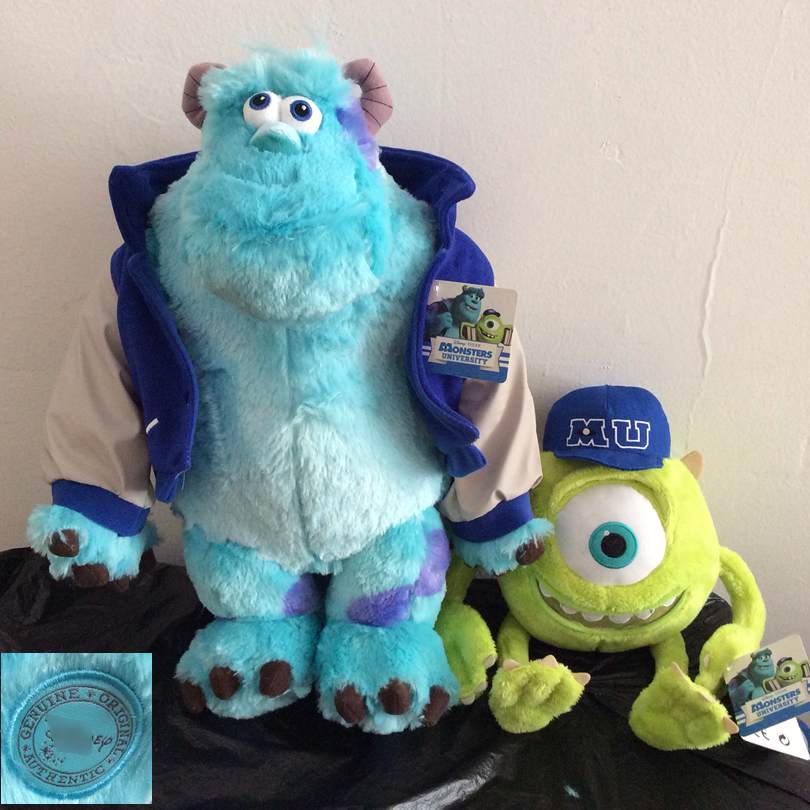 Free shipping 1pcs Monsters University plush toys,Mike Wazowsk and Sulley Sullivan Monsters Inc Stuffed animals Soft Kids Doll