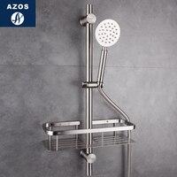 Azos стержень душ SUS304 Нержавеющаясталь взлет и падение один Функция поворотный кронштейн практические душевая комната Роу