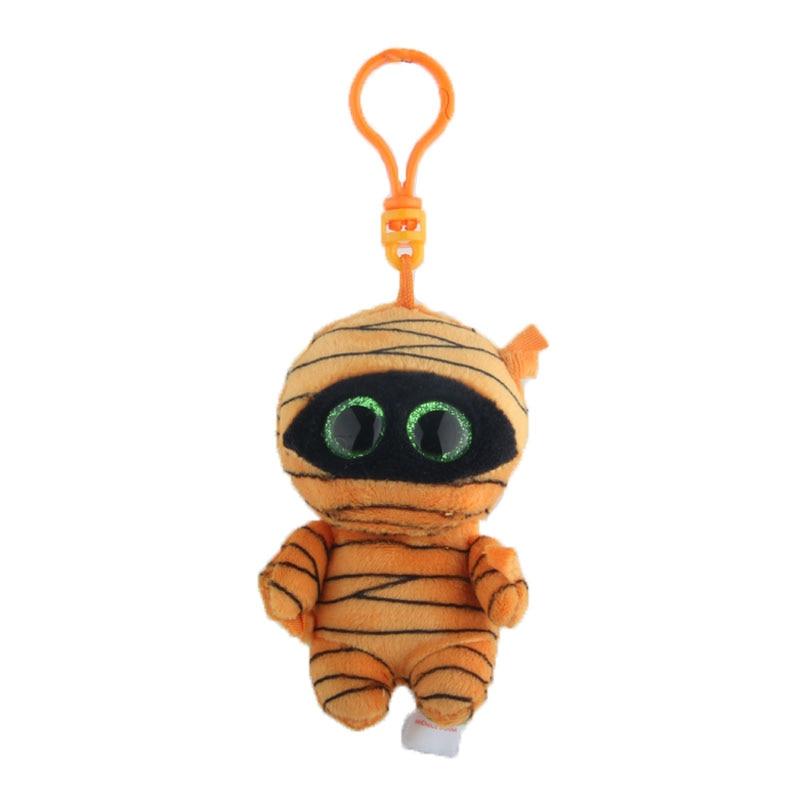 Ty Beanie Boos Big Eyes Plush Yellow masked man Keychain Toy Doll 4 10cm