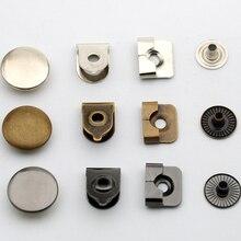 80 компл./лот, 15 мм, 4 части, металлические брюки с латунной фурнитурой, Брюки, юбки, крючки для мальчиков/мужчин, серебряный никель, бронза he-030