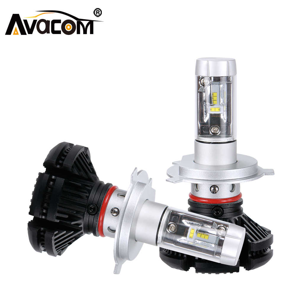 Avacom H1 H7 H11 H8 H9 H4 9005/HB3 9006/HB4 LED Car Bulb ZES 12000lm 6500K White 12V 24V Luces LED Para Auto Ampoule LED Voiture