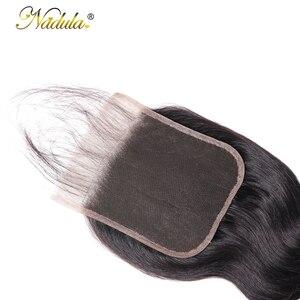 Image 5 - Nadula ヘア 5*5 実体波レースクロージャー無料パートの Remy 人間の毛髪ナチュラルカラーブラジルの髪の閉鎖ベビーヘアー