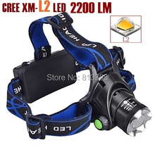 AloneFire HP79 CREE XM-L2 LED 3800 Lumens Rechargeable Zoom Head lights LED Head lamps cree led For 2×18650 Battery