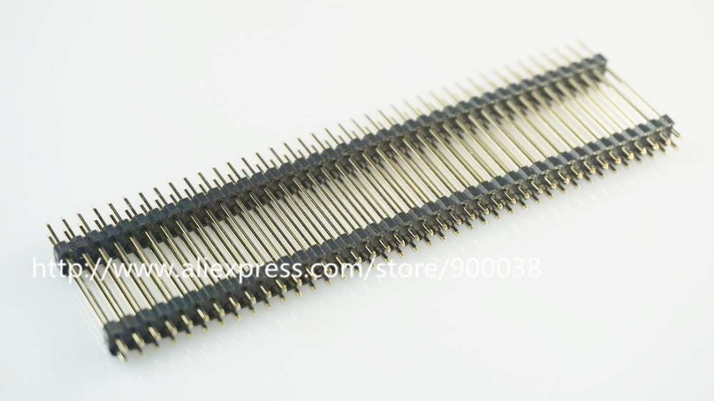 50pcs 30 mm Height 2x40 P 80 Pin 2 54mm Pin Header male dual row dual