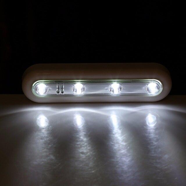 1 PC Led Push Light LED Tap Lights Self Stick Under Cabinet Cupboard Closet  Push