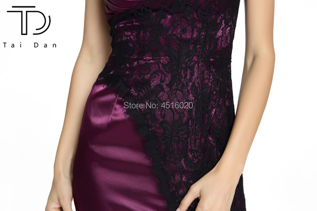 2018 Gorgeous One-Shoulder Long Women Prom Dress for Wedding Party Satin lace Formal Bridesmaid Dress