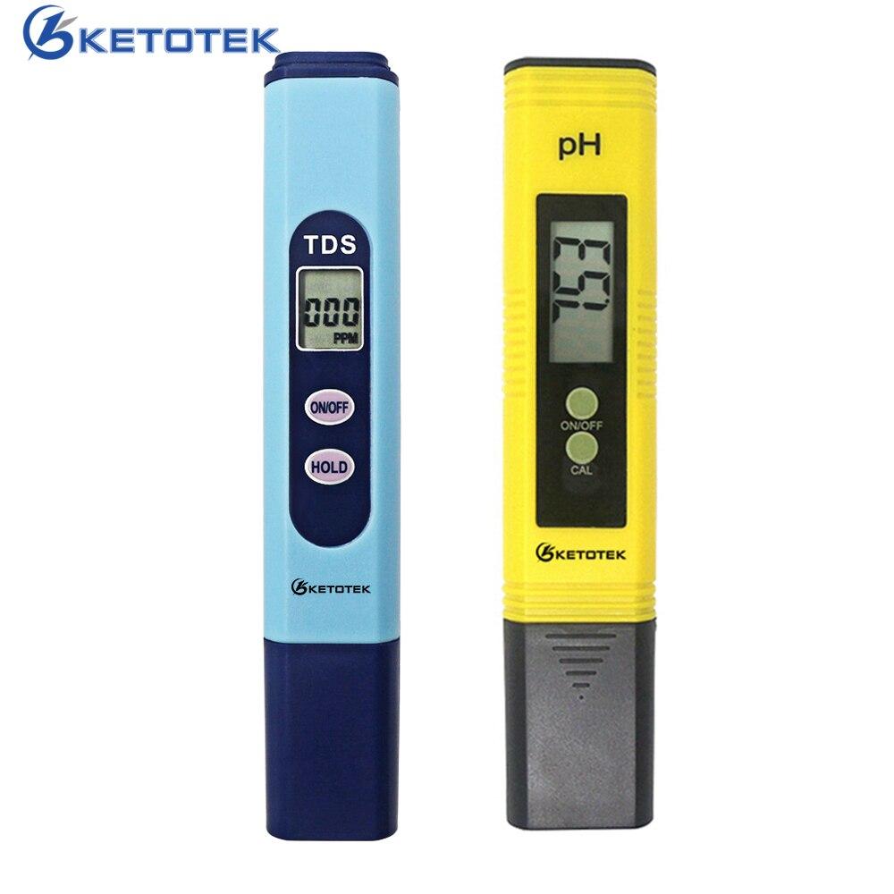 Digital medidor de PH 0,00-14,0 automático de calibración TDS Tester 1-9990PPM de titanio sonda agua prueba de calidad Monitor de la piscina del acuario