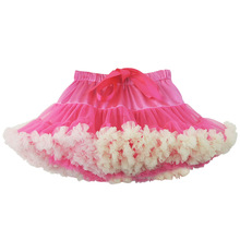 0-10Y New Fashion Children Girl Tutu Skirts Baby Ballerina Skirt Kids Chiffon Fluffy Casual Candy Color Skirt