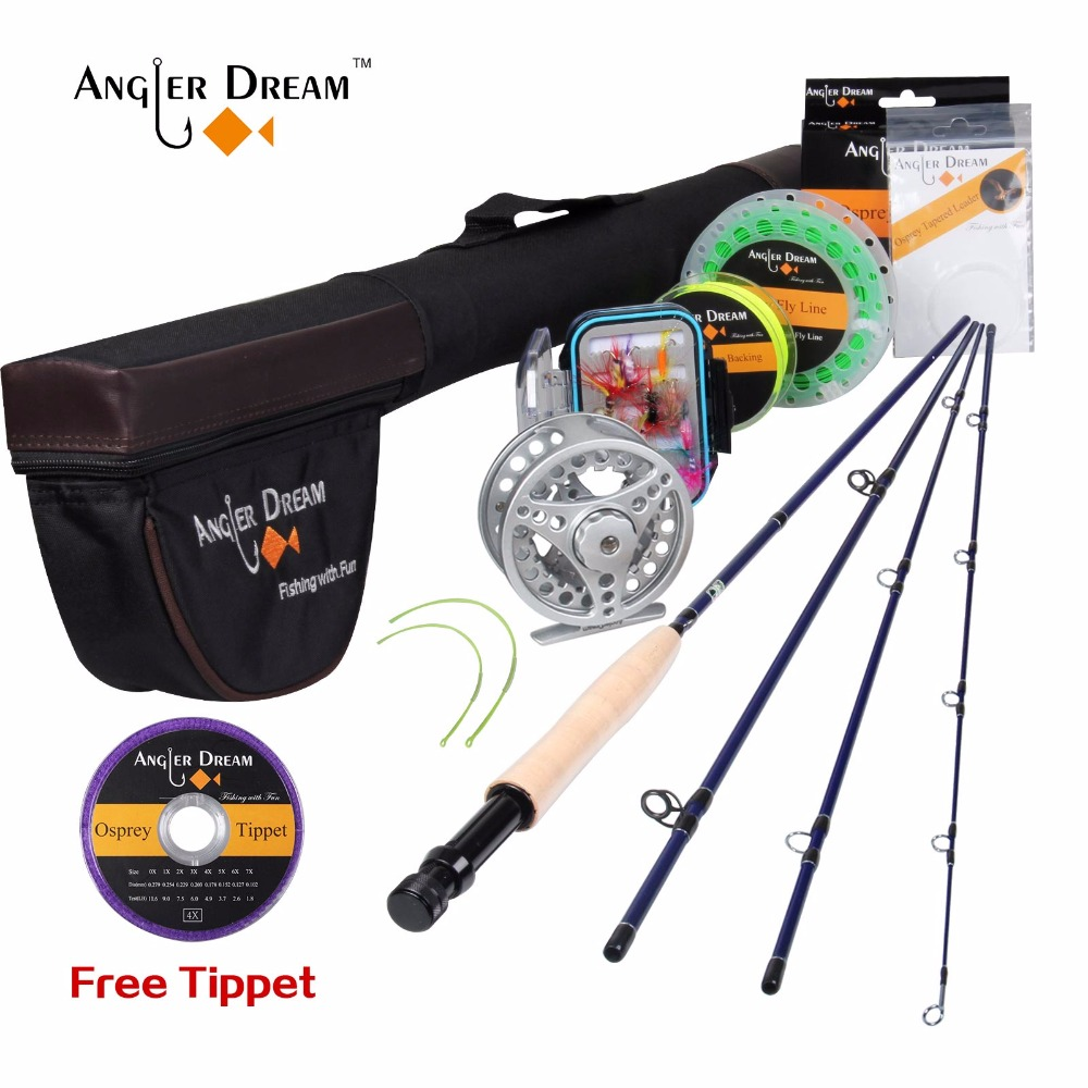 Angler Dream 5 6 WT Fly Fishing Rod Set 2 7M 9FT Fly Rod and Fly