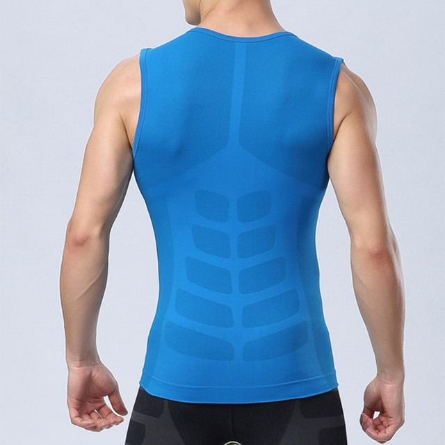 Men's Fitness Gym Yoga Tight Shirt Compression Base Layer Vest Sport Tops M L XL