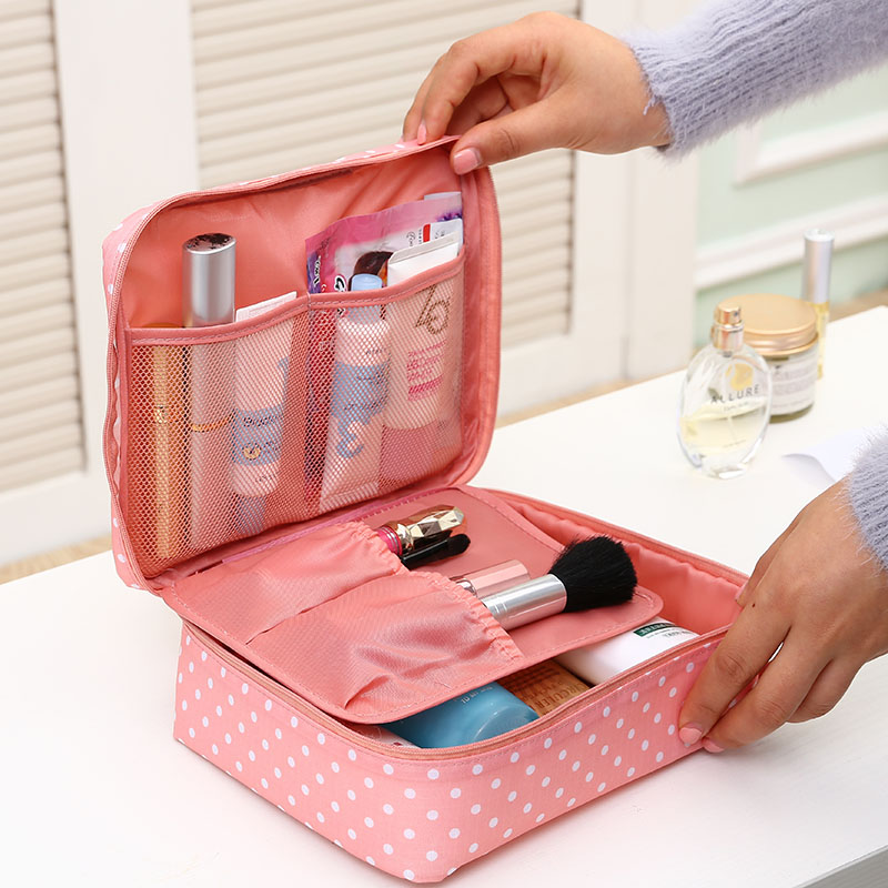 Double Zipper Man Women Travel Makeup Bag Cosmetic Bags Beauty Case Make Up Organizer Toiletry Bag kits Travel Wash Pouch