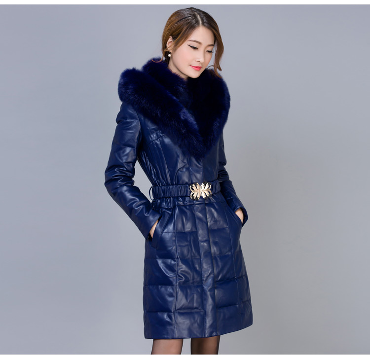 Mujeres mujeres chaqueta abrigo de invierno nueva piel de oveja de invierno fox
