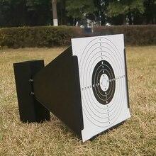 14センチメートル漏斗ペレットトラップグリーン/黒エアガンエアライフルターゲットホルダーペイントボールアクセサリー + 100紙用ライフル/エアガン撮影