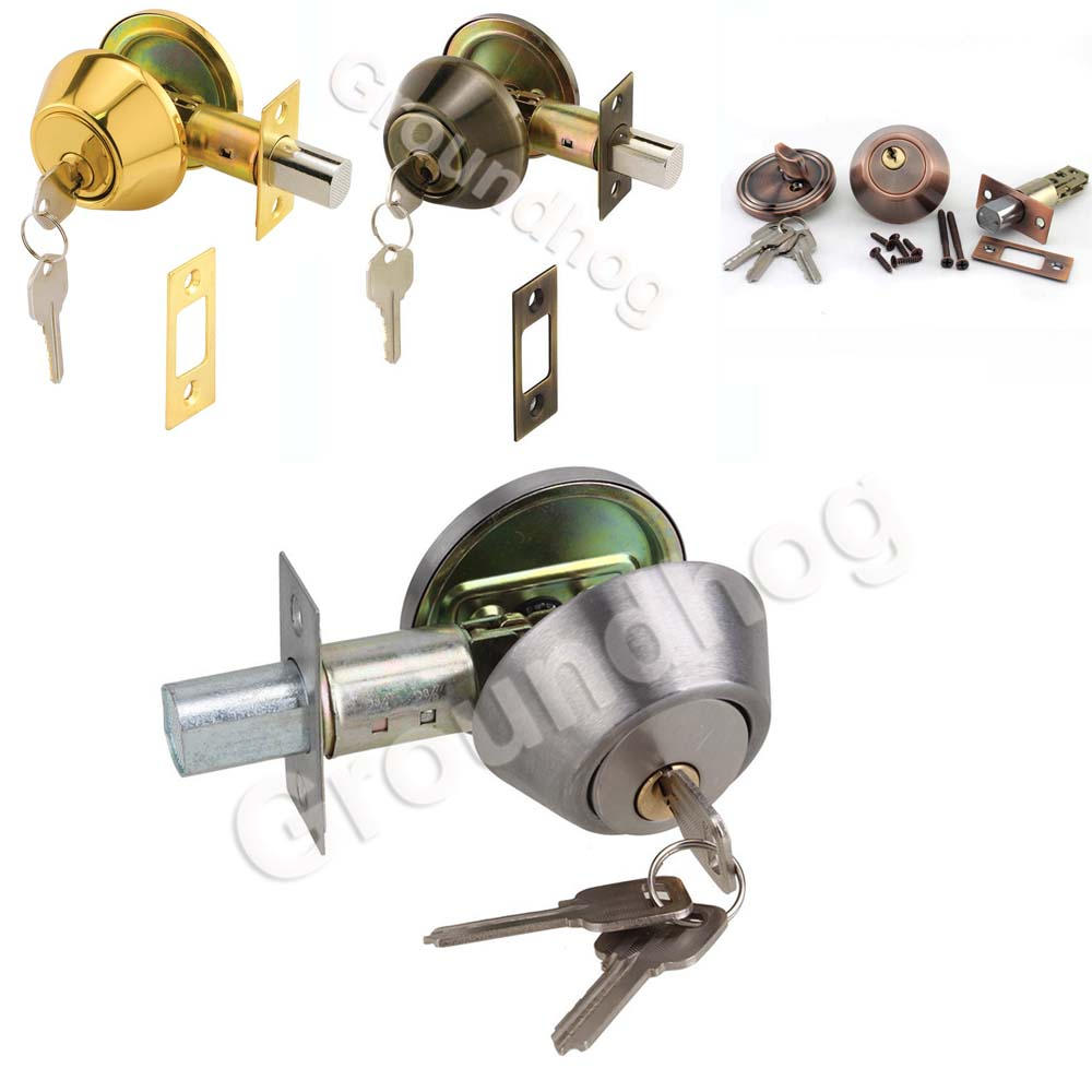 Home Door Gate Single Cylinder Deadbolt Chrome Stainless Steel Dead Bolt Door Lock