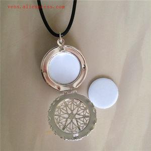 Image 2 - Sublimazione medaglione nuovo round collane pendenti in bianco di stampa a trasferimento termico delle donne del pendente della collana di consumo 15 pz/lotto
