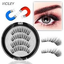VICILEY Magnetic Eyelashes false eyelashes 3 lashes handmade Makeup Extension Eye eyelash-KS09-3